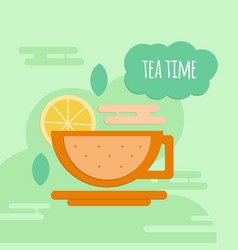 Five oclock tea flat style concept vector