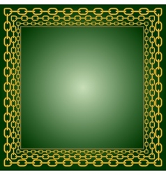Frame of chains vector image vector image