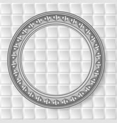 gray circular frame vector image