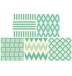 green 5 style pattern and wallpaper vector image