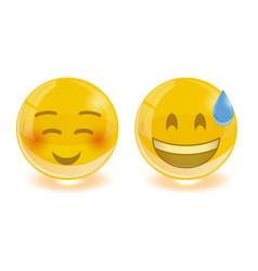 group of smiley emoticons emoji vector image vector image
