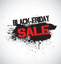 Grunge black friday sale background vector