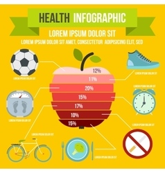 Health infographic flat style vector image vector image