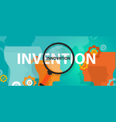innovation vs invention concept of thinking vector image vector image