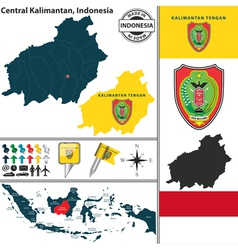 Map of central kalimantan vector