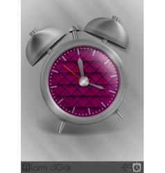 Metal Classic Style Alarm Clock vector image