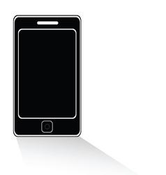 Mobile phone icon black vector