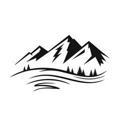 mountain and landscape vector image