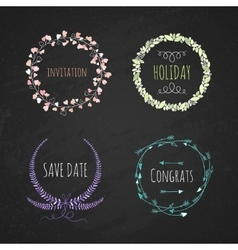 Set romatichnyh wreaths Hand drawing vector image vector image