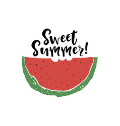 sweet summer poster vector image vector image