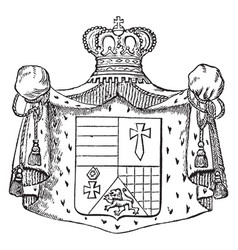 The great seal of oldenburg is a seal of germany vector
