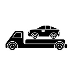 trailer - transportation - car service - car vector image