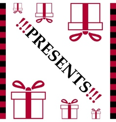 White card of present box vector image