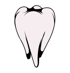 White tooth icon icon cartoon vector