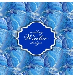 Winter frozen glass background pattern vintage vector