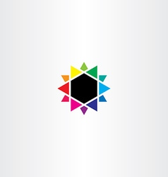 Colors mixing colorful star icon design vector