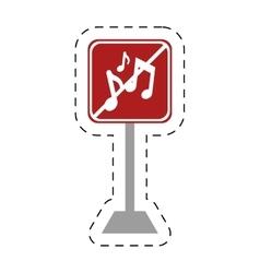 Traffic prohibited music sound vector
