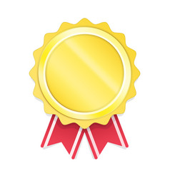 modern gold circle metal badge vector image