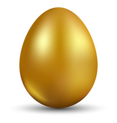 Golden egg isolated on white background for vector