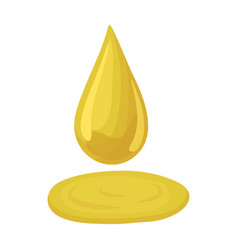a drop of olive oilolives single icon in cartoon vector image
