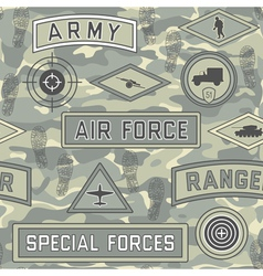 Seamless military pattern 08 vector