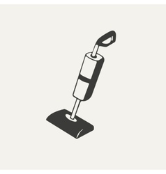 Vacuum cleaner black and white vector