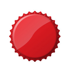 Red bottle cap vector