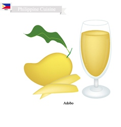 Mango Juice A Famous Beverage in Philippines vector image
