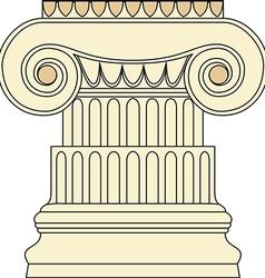 Antique column pillar vector image vector image