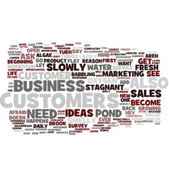 Are your sales stagnant and smelly text vector
