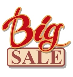 Big Sale signboard vector image vector image