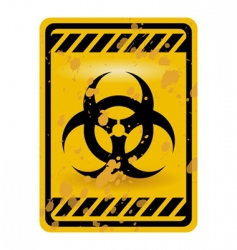 biohazard sign vector image