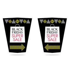 black friday super sale banner vector image
