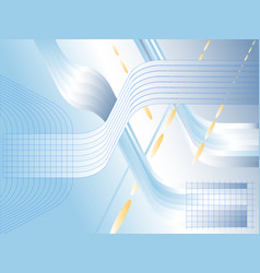 Blue and bright abstract background with lines and vector