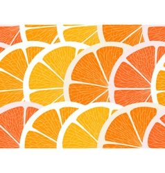 Citrus segments seamless background vector image vector image