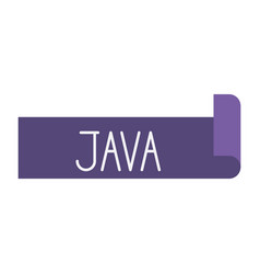 Colorful silhouette of label text java vector