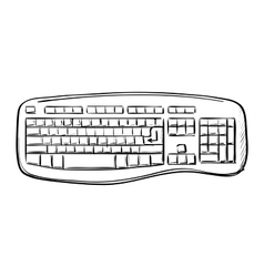 Computer doodle keyboard vector image vector image