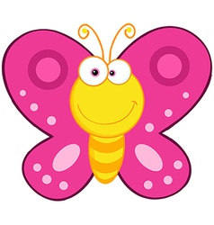 Cute Butterfly Cartoon Mascot Character vector image vector image