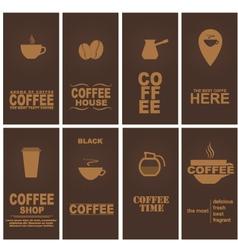 Design coffee 1 vector image vector image