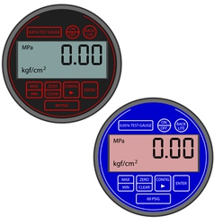 digital gas manometer vector image