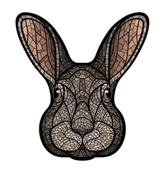 drawing head of a rabbit hare vector image vector image