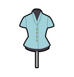 Elegant blouse for women in manikin vector