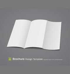 Empty brochure design vector image