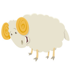 Funny ram animal character vector