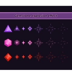 Gemstone explosion effect vector