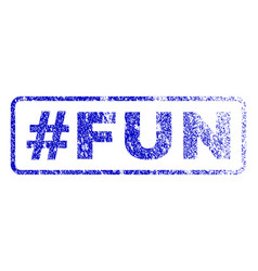 Hashtag fun rubber stamp vector