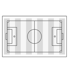 horizontal football field vector image