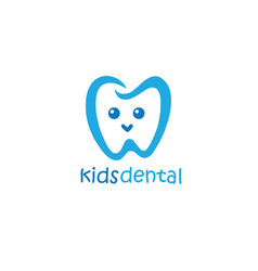 Kids dental logo design mascot design vector