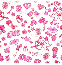 love patern vector image vector image