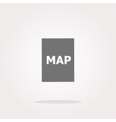 map icon web button with map vector image